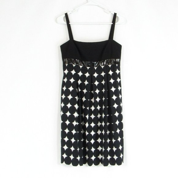 Black CARMEN MARC VALVO empire waist dress 4